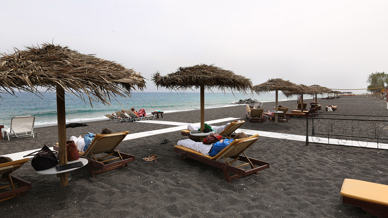 Perissa / Black Beach, Santorini