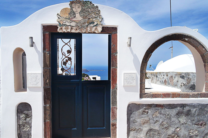 The magical doors of Santorini