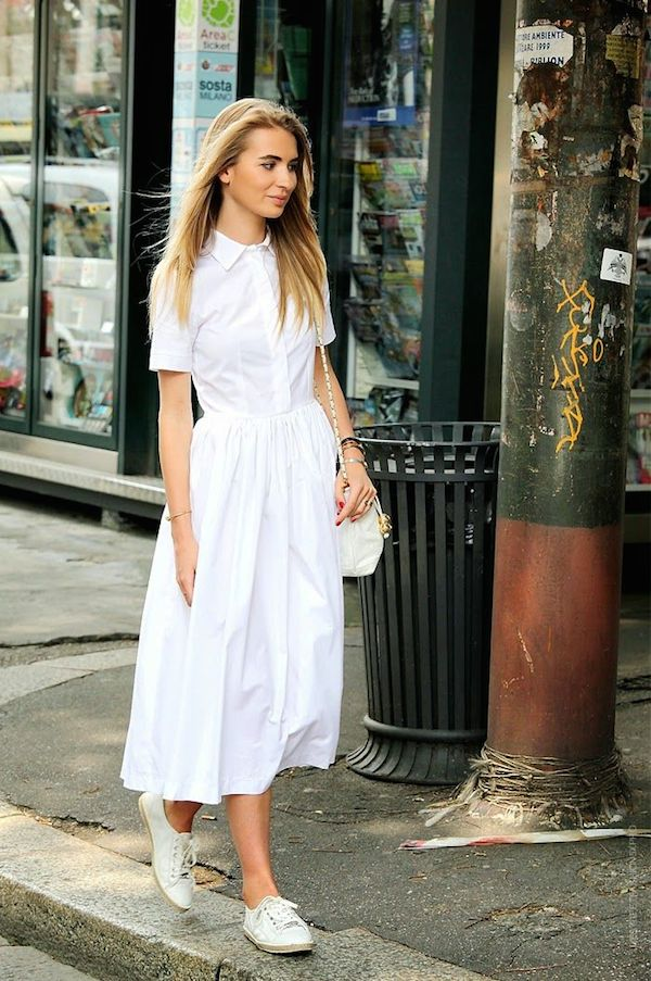 how to style white on white looks