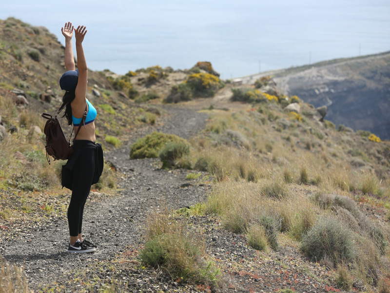 embracing every bit of nature with open arms! : )