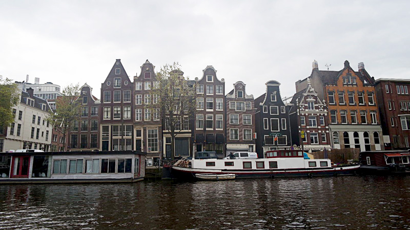 the dancing houses of amsterdam. If you notice, they are actually tilted! : D