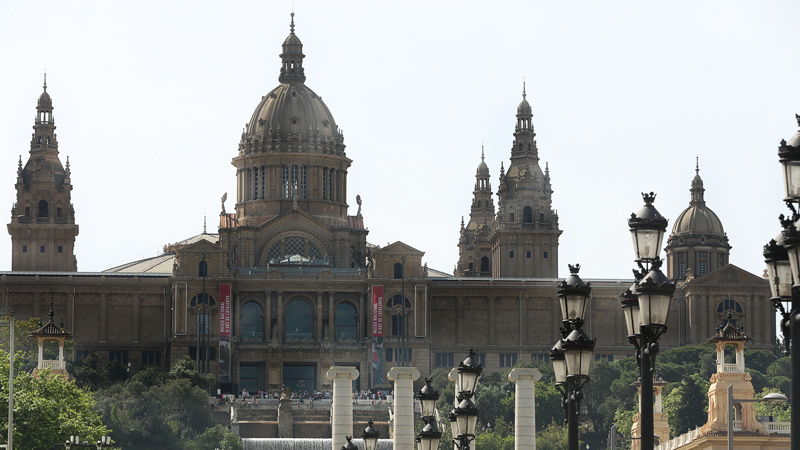 the national palace - Palau Nacional was the main site of the 1929 International Exhibition on the hill of Montjuïc in Barcelona