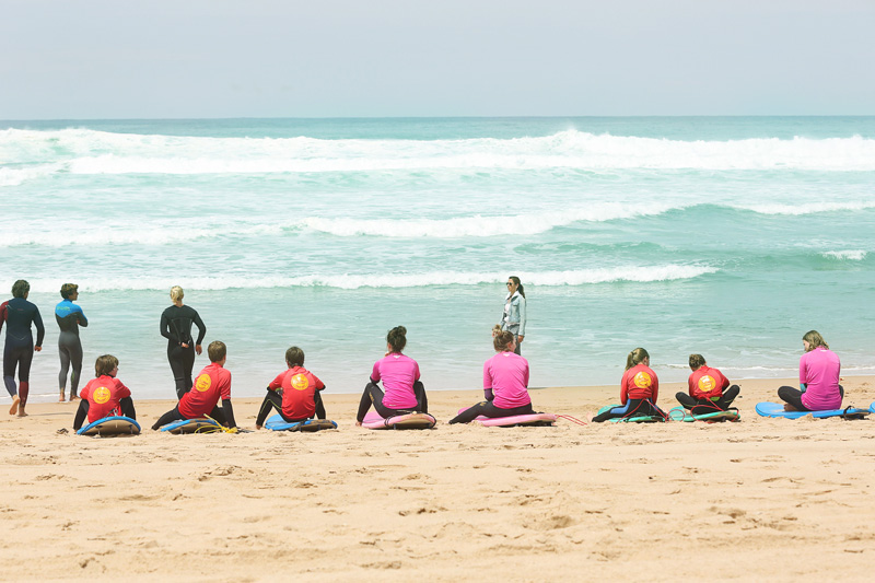 surfers getting the training. The last comment was ' you might fall off your surf board but don't die'. : P
