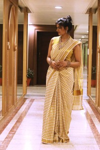 white gold kerala saree