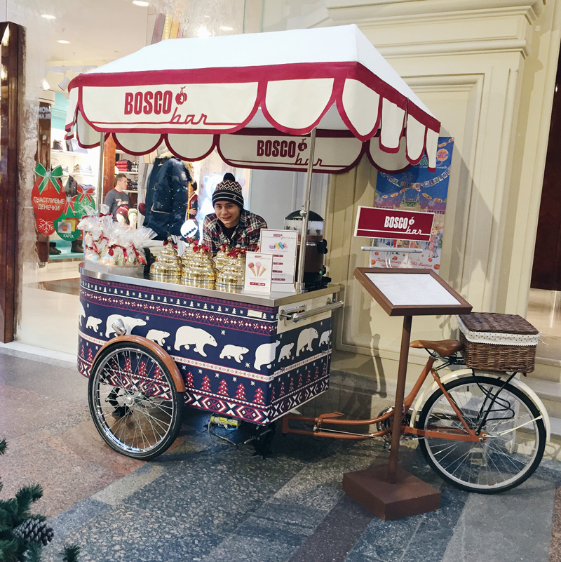 icecream from bosco in Gum!