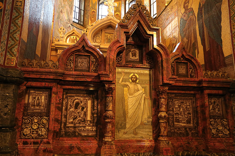 The Church contains over 7500 square meters of mosaics—according to its restorers, more than any other church in the world.