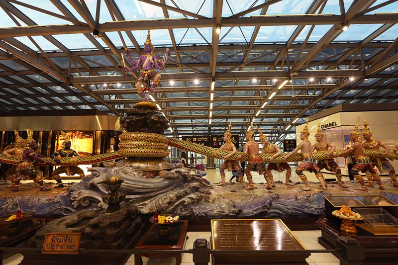 first stop at the bangkok airport