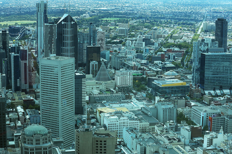 the sky view of the beautiful melbourne