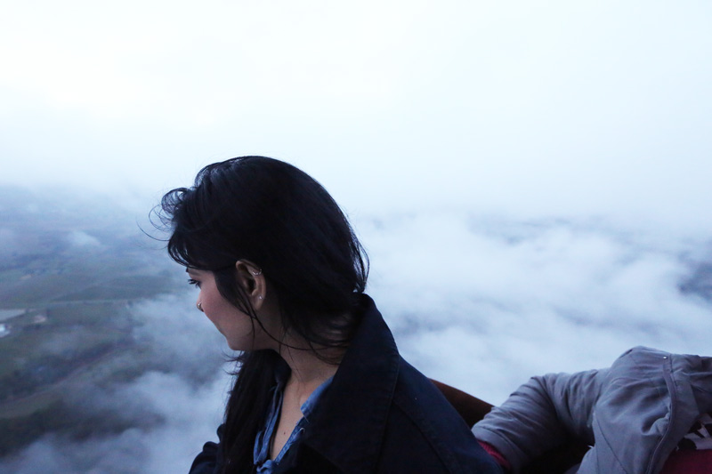 floating among the misty clouds!
