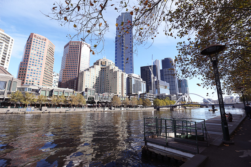 a beautiful sunny day in Melbourne