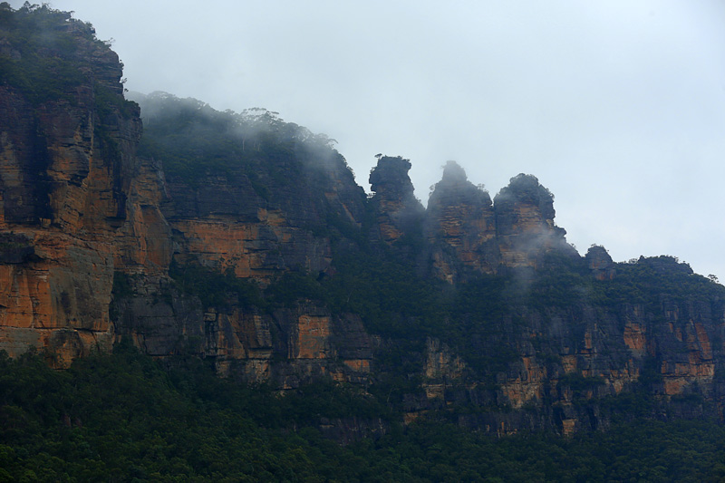 silver mist over the 3 sisters!