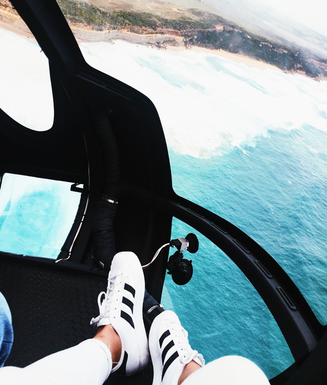 flying on top of the ocean!