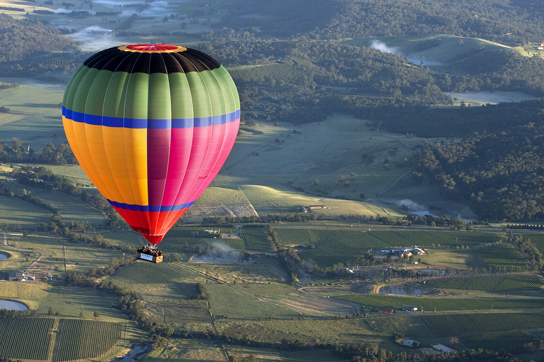 Global Ballooning in Victoria's Yarra Valley.