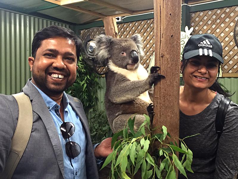 koala and us! : D