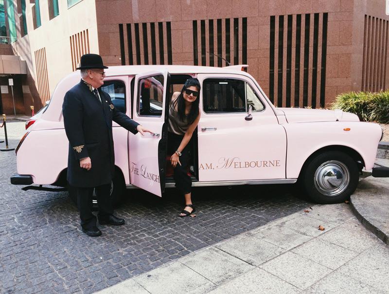 hop on my pink car