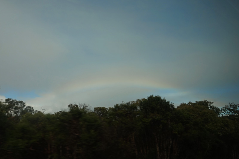started the drive with this beautiful rainbow!