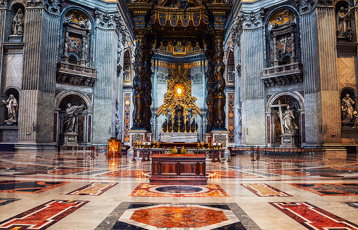 Interiors of St. Peters Basilica