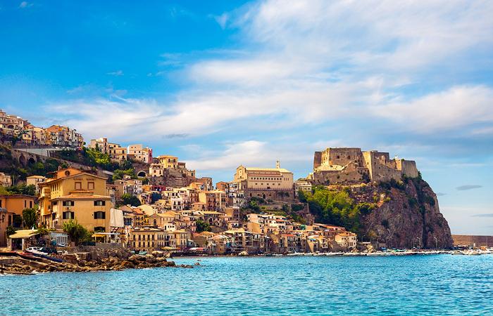 Castle Scilla in Calabria