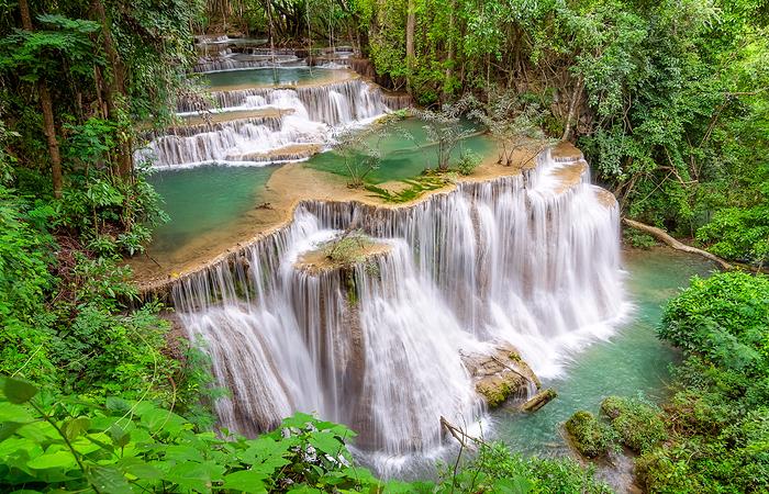 Huai Mae Kamin waterfall Srinakarin